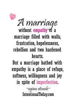 4 ways a wife can influence her marriage through the power of empathy Get the best tips and how to have strong marriage/relationship here: Marriage Advice Quotes, Godly Marriage, Save My Marriage, Marriage Relationship, Marriage Tips, Happy Marriage, Love And Marriage, Broken Marriage, Beautiful Marriage Quotes