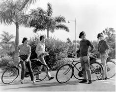 on bikes
