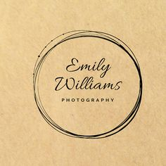 Premade Logo Design Wreath Logo Photography by IlluzstratedUK                                                                                                                                                                                 More