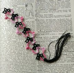 Check out this item in my Etsy shop https://www.etsy.com/listing/292765851/colorfully-tatted-bookmark-book