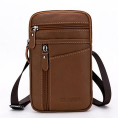 Genuine Leather Sling Bag Multi Pocket Phone Bag Portable Waist Bag For Men is hot-sale, many other cheap crossbody bags on sale for men are provided on NewChic Mobile. Leather Drawstring Bags, Cheap Crossbody Bags, Messenger Bag Men, Casual Bags, Crossbody Shoulder Bag, Bag Sale, Leather Handbags, Men's Bags, Belt Bags