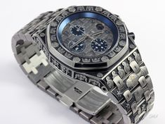 Hand Engraved Audemars Piguet - DAVID SHEEHAN ~ ENGRAVERDAVID SHEEHAN ~ ENGRAVER Watch Engraving, Metal Engraving, White Watches For Men, Luxury Watches For Men, Audemars Piguet Rose Gold, Rolex Submariner Black, Diesel Watch, Automatic Watches For Men, Accessories