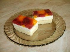 Tvarohovo -ovocné rezy - recept Cheesecake, Food And Drink, Cookies, Desserts, Recipes, Dog, Crack Crackers, Tailgate Desserts, Deserts