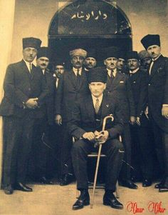 Gazi Mustafa Kemal Pasha with members of the Grand National Assembly. Republic Of Turkey, The Republic, Turkish Army, The Turk, Grand National, Great Leaders, World Peace, Ottoman Empire, Historical Pictures