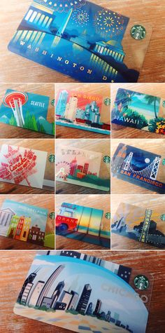 Just in case you needed help planning your summer vacation. These new cards are available in their namesake cities. #StarbucksCard