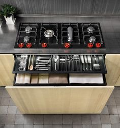 Nice Natural Skin Kitchen By Minacciolo: Industrial And Sleek