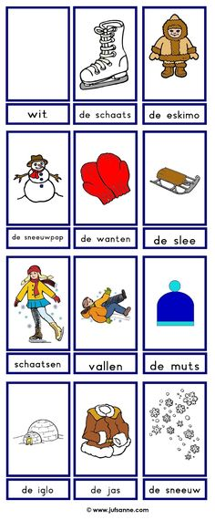 ⛄ Woordkaarten : winter (2)