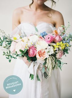 Photography : Michael And Carina Photography Read More on SMP: http://www.stylemepretty.com/2015/07/19/bouquet-breakdown-colorful-camarillo-estate-wedding-bouquet/