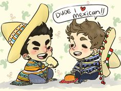 teenwolfteam:  isaacllaheys:  i don't even have an excuse i just wanted to draw them in sombreros, honestly  this very cutest. :)
