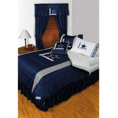 Dallas Cowboys Bedroom Set...how to get my 49'ers Hubby to stay OUT of the Bedroom..bwahahaha!!