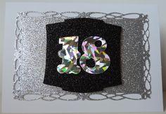 Glitter 18th Birthday Card
