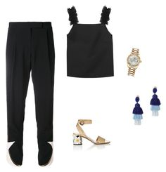 """""""Simple"""" by leafmarie ❤ liked on Polyvore featuring Elie Saab, Prada, Mother of Pearl, Rolex and Oscar de la Renta"""
