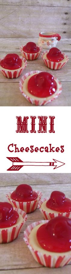 Mini Cheesecakes.  Easy & delcious!  Pin for later!