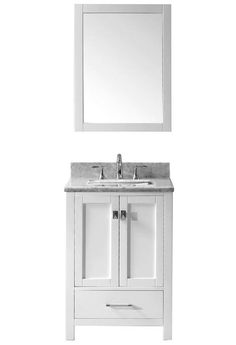 Photographic Gallery Abodo inch Transitional Bathroom Vanity White Finish Set