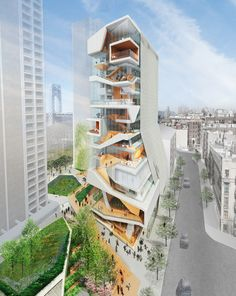 Proposed  Columbia university medical center' by diller scofidio + renfro + gensler, new york, new york