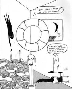#arte #ilustracion #ilustraciones #ilustrator #olasilustracion #mar #olas #tiburon #salvavidas Photo And Video, Instagram, Lifebuoy, Illustrations, Art