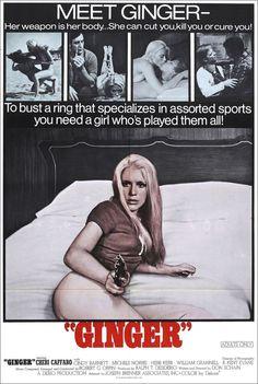 "Ginger (1971) One sheet poster. Starring Cheri Caffaro — ""She can cut you, kill you or cure you!"""