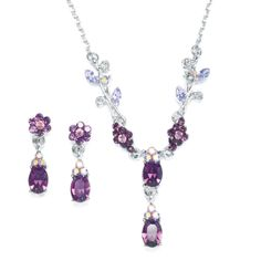 Dainty Floral Bridesmaid or Prom Necklace Set