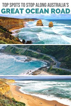 Top Spots To Stop Along Australias Great Ocean Road - Australias Great Ocean Road Is Hailed As One Of The Worlds Most Epic Road Trips Passing By Roaring Oceans And Golden Beaches Before Ending At The Iconic Twelve Apostles Here Are Some Of Australia Country, Visit Australia, Australia Travel, Backpacking South America, Backpacking Asia, Best Places To Travel, Places To Visit, Road Trip Hacks, Road Trips