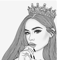 When a woman is loved correctly she becomes ten times the woman she was before. Hipster Girl Drawing, Tumblr Girl Drawing, Tumblr Drawings, Tumblr Art, Girl Drawing Sketches, Girly Drawings, Outline Drawings, Girl Sketch, Art Drawings Sketches Simple