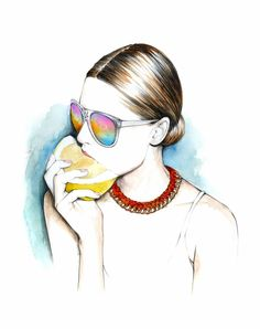 Illustration for the Miami Fashion Friendly guide new version by Caroline Andrieu #fashion #illustration