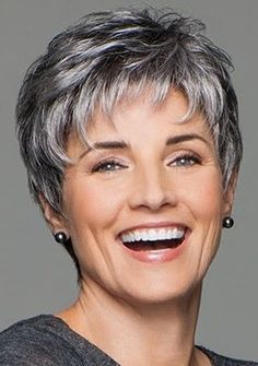 Incentive by Eva Gabor Wigs – Lace Front, Hand Tied, Monofilament Wig – cabelo Short Hair Over 60, Short Hair Older Women, Haircut For Older Women, Haircut For Thick Hair, Short Hair With Layers, Short Hairstyles For Women, Hairstyles For Over 50, Short Layered Hairstyles, Grey Hair Over 50