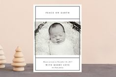 With Merry Love 2017 Holiday Birth Announcements by Kate Ross   Minted