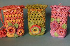 Crochet bolsitas para el celular..
