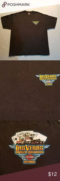 Harley Davidson LAS VEGAS Men'sT-shirt This is a men's Las Vegas, Nevada XL Harley Davidson t-shirt.  No size tag, excellent used condition. Harley-Davidson Shirts Tees - Short Sleeve