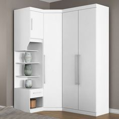 Corner Wardrobe Closet, Wardrobe Design Bedroom, Bedroom Bed Design, Bedroom Wardrobe, Wardrobe Door Designs, Closet Designs, Closet Renovation, Bedroom Cupboard Designs, Modern Closet