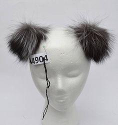 5465d8c5957 5 SILVER FOX Pom Poms PAIR Double Pom Poms Fox Pom Pom Pom Hat