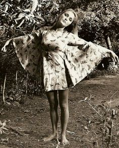 sharon tate's butterfly dress is perfect.