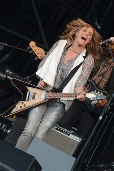 Grace Potter and her V Grace Potter, Ladies Of Metal, Gibson Guitars, Blues Rock, Cool Guitar, Rock Music, Lady, Madness, Legends