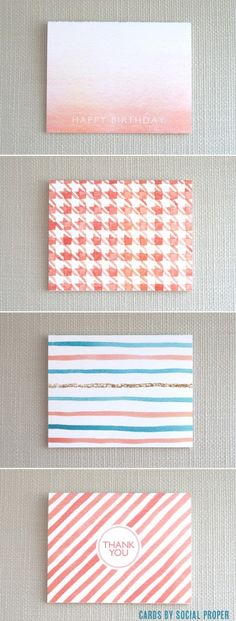 Hand Painted Cards from Social Proper