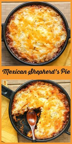 A classic comfort food livened up with chili powder, green chilies and corn. Cast Iron Skillet Cooking, Iron Skillet Recipes, Cast Iron Recipes, Skillet Dinners, Meat Recipes, Mexican Food Recipes, Healthy Dinner Recipes, Cooking Recipes, Recipies