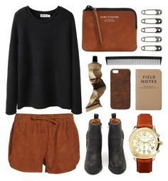 """""""Black and tan"""" by hanaglatison ❤ liked on Polyvore featuring Ganni, Steven Alan, Jeffrey Campbell, Acne Studios, Michael Kors, T3, Aesop, Maison Takuya, women's clothing and women's fashion"""