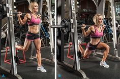 The second exercise to shape and firm your glutes is split squat. Description…