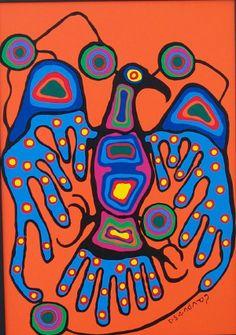 Norval Morrisseau artwork from Elliott Louis Gallery Inuit Kunst, Arte Inuit, Inuit Art, American Indian Art, Native American Art, Kunst Der Aborigines, Woodland Art, Atelier D Art, Art Premier