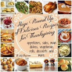 Huge roundup of delicious recipes for Thanksgiving - what a resource! Yum! by odessa