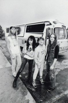 EARLY Metallica ...James, Kirk, Lars & Cliff Burton