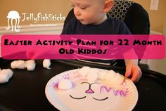 Easter activity and learning plan for 22 month old kiddos