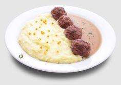 Кюфтета по цариградски: Апетитно изпържени кюфтенца в компанията на нежно картофено пюре и сос. Едно предложение за почитателите на класическата комбинация от месо с картофи.