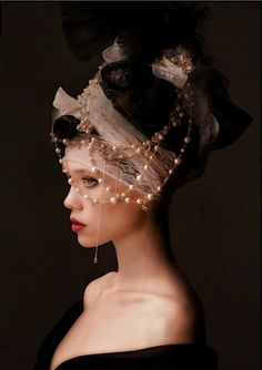 """artoficeandfire: """" brambleberrycottage: """" for-redheads: Astrid Berges-Frisbey by Simon Procter for VS Mag Sept 2012 """" """" Astrid Berges Frisbey, Steampunk, Headgear, Headdress, Editorial Fashion, Wedding Hairstyles, Fashion Photography, Pearls, Headpieces"""