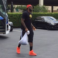LeBron James in the Red Octobers. (Photo: @NBA)  See more on Sneakernews.com #Padgram