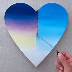 pencil drawing tutorials What an amazing heart shaped painting Love Canvas Painting, Clock Painting, Art Painting Gallery, Heart Painting, Galaxy Painting, Diy Painting, Art Mini Toile, Illustration Art Dessin, Galaxy Drawings