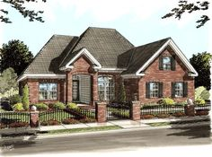 House Plan 68225 | Traditional Plan with 1595 Sq. Ft., 3 Bedrooms, 2 Bathrooms, 2 Car Garage at family home plans
