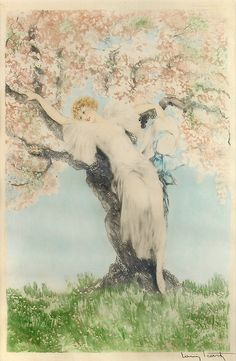 'Spring Blossoms' - 1932 - by Louis Icart