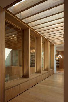 Image 12 of 50 from gallery of Hampshire House / Niall McLaughlin Architects. Photograph by Nick Kane Detail Architecture, Timber Architecture, Timber Windows, Windows And Doors, Timber House, Hampshire House, Glass Pavilion, Space Frame, Prefab
