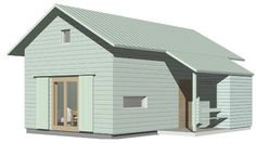 Fritidshuset Sikås 37, Arvesund Living — Svenska Ladhus Living, Architecture, Shed, Loft, Outdoor Structures, Cabins, Home, Arquitetura, Lofts