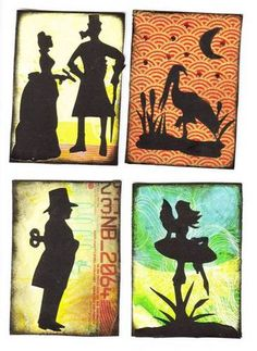 silhouette ATCs